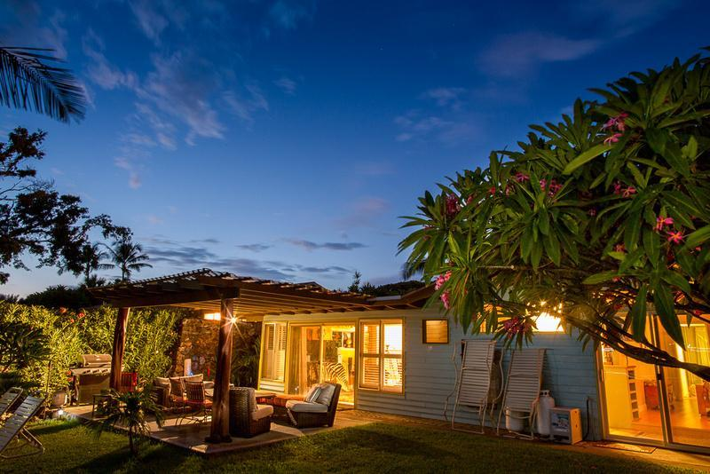 Interesting Photo of Home at Dusk - Clean & Green Home with Ocean View - Kamuela - rentals