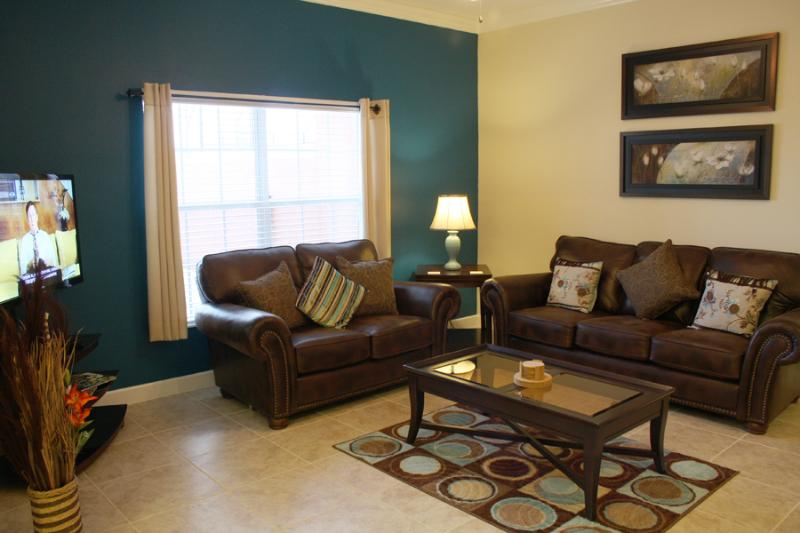 LIVING ROOM - Paradise Palms 4 Bedroom Villa with Private Pool Overlooking Lake - Kissimmee - rentals