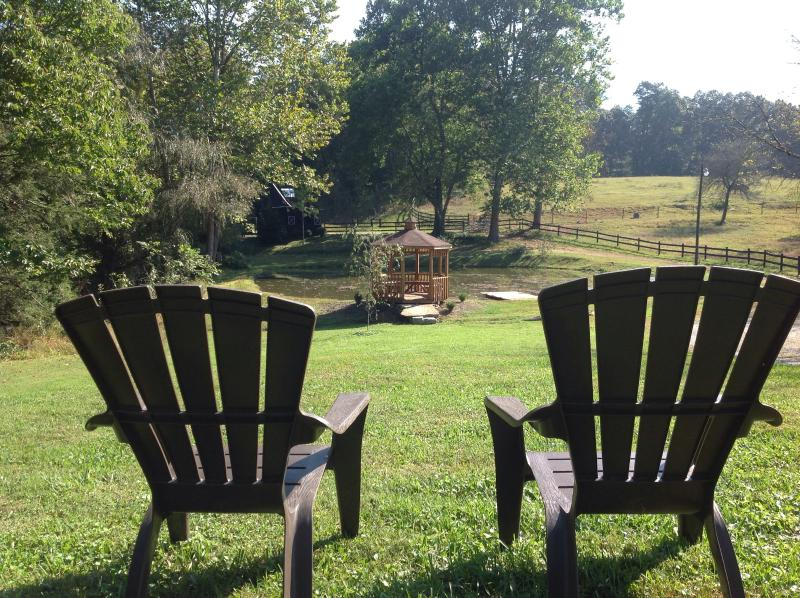 Relax and enjoy the view - A Cottage At Willow Pond~17 Acres~Horses~Hot Tub - Asheville - rentals