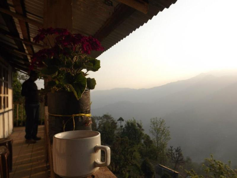 From the balcony - Sangfung Organic Farm at the Neora Valley National Park,  East Himalayas, West Bengal, India - Lava - rentals