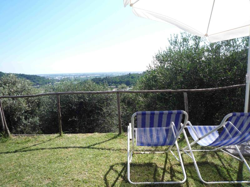 view terrace - Charming House with Sea views - Massarosa - rentals