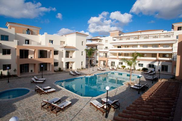 View from Our Balcony over the Pool - Oracle Exclusive Resort, B101 Kapto Paphos - Paphos - rentals