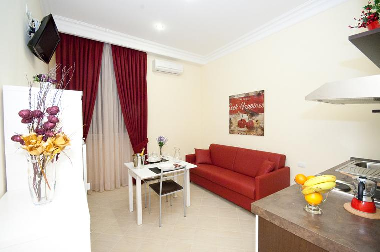 Living room with sofa bed - 'Suite Quirinale' Comfy and Smart Apartment - Rome - rentals