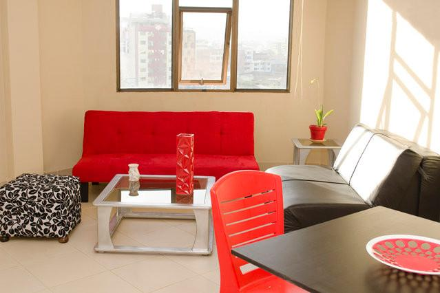 White Doors Living Room - White Doors - Agarthan Hideout Apartments - Cochabamba - rentals