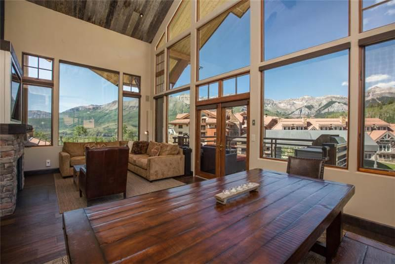 Enjoy a meal with the whole group at the large dining table at Granita Penthouse - GRANITA PENTHOUSE - Telluride - rentals