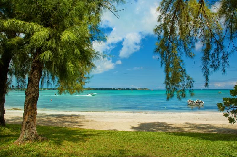 The garden and the beach. - Beachfront villa on a private bay in Grand-Bay! - Mauritius - rentals