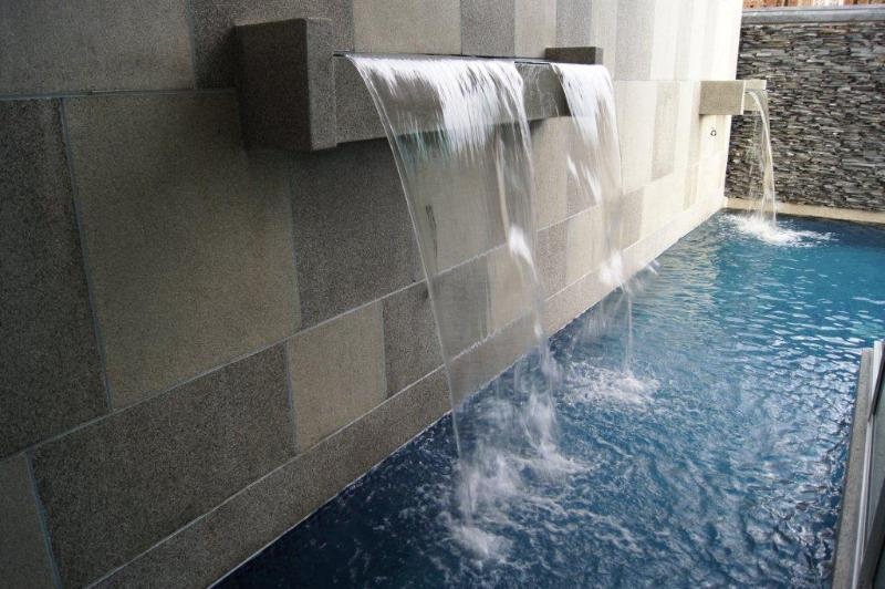 Who do not want a waterfall when swimming in the pool? - 35C Luxury 3 bedroom house with private pool - Kamala - rentals