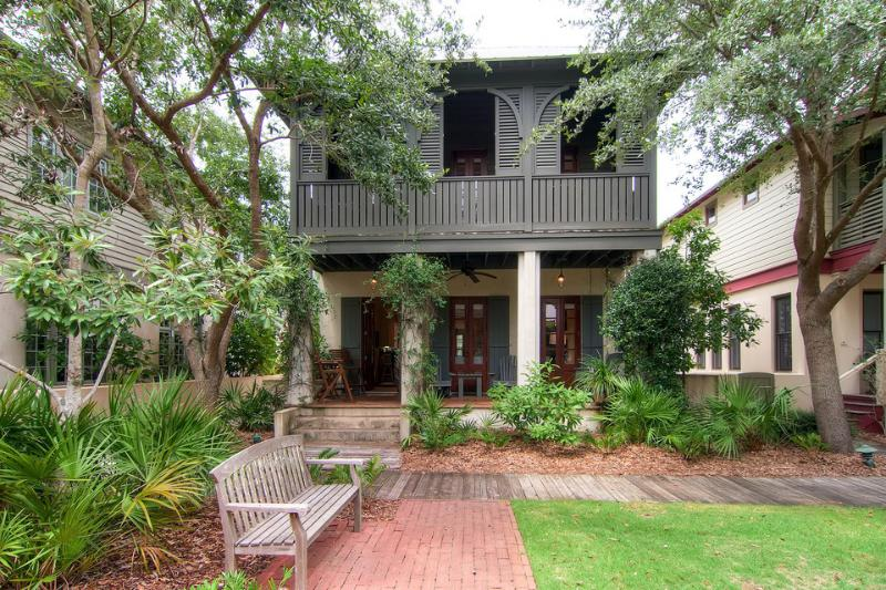 The architecture is classic Caribbean. The layout of the homes brings people together around a central green space. - Charming, family-friendly cottage with green play space in heart of Rosemary Beach - Cotton-Carrigan Cottage - Inlet Beach - rentals