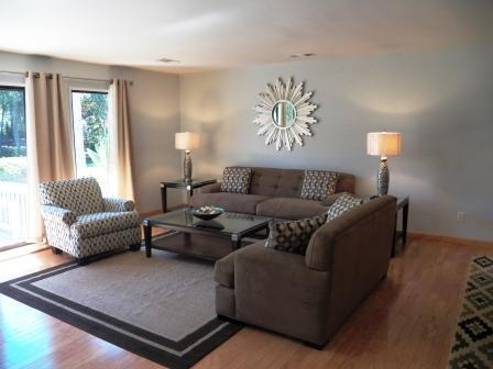 Relax after a day of activities in our comfortable living room - Walk to Beach, Golf, Tennis and Dining! All New! - Hilton Head - rentals