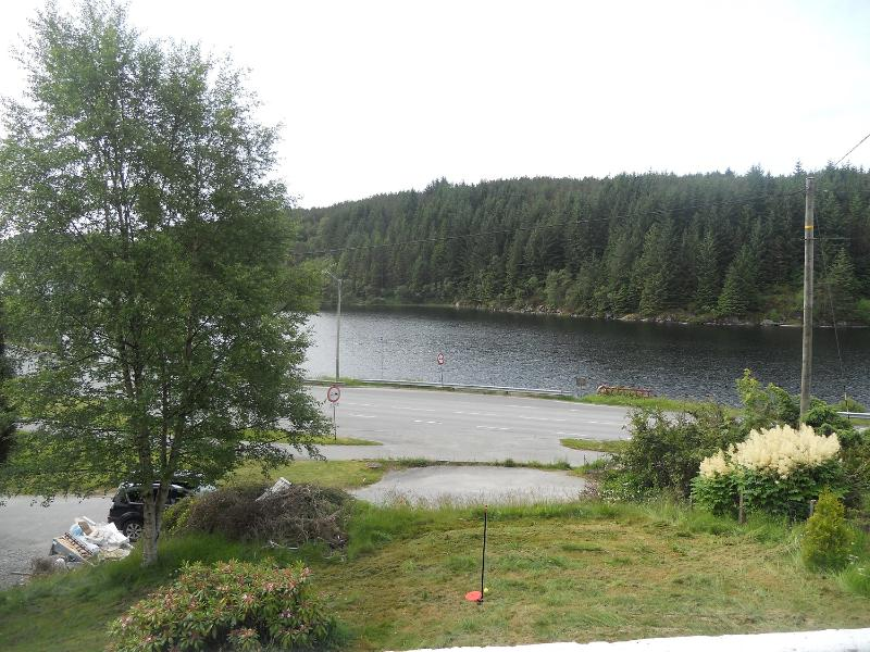 View from living room - Lake view house - Haugesund - rentals