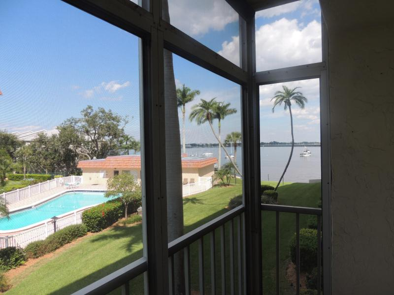 Balcony View - Waterfront Furnished Condo In Bradenton Florida - Bradenton - rentals