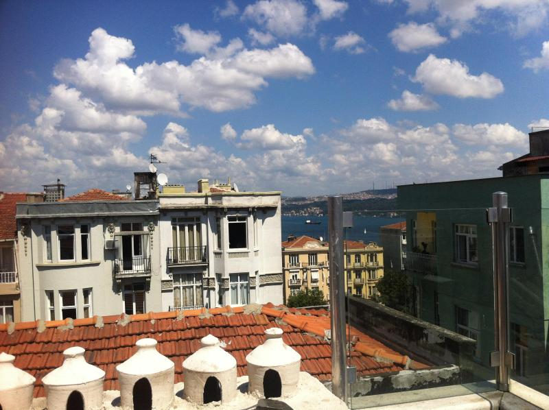 Bosphorus view from the terrace - Amazing roof top apartment in Cihangir - Istanbul - rentals