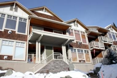 Front of Building Stairs to ground floor - Settler's Crossing Condos - SX03 - 344 - Sun Peaks - rentals