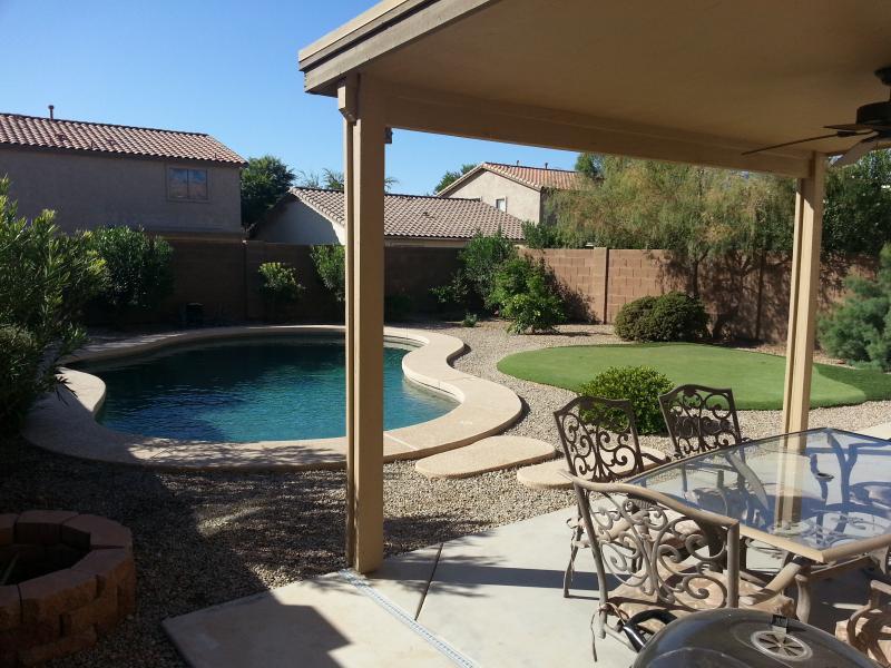 Back yard - Mesa, Arizona home -Private Pool & Putting Green - Queen Creek - rentals