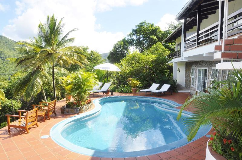 overall view of pool and building - LUXURY WINDSOR APARTMENT AT MARIGOT PALMS - Marigot Bay - rentals