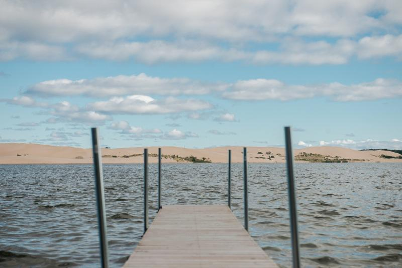 Your own private dock - Driftwood. Silver Lake frontage with dune views. - Mears - rentals