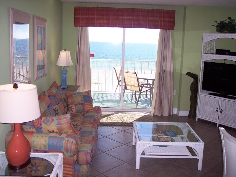 Looking Outside from Inside - Clearwater 2B   --   Beach Here! - Gulf Shores - rentals