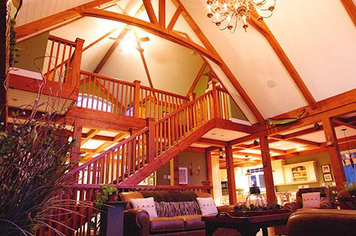 Great room in Douglas Fir timbers - Exquisite Muskoka Lakes Chalet - Muskoka - rentals