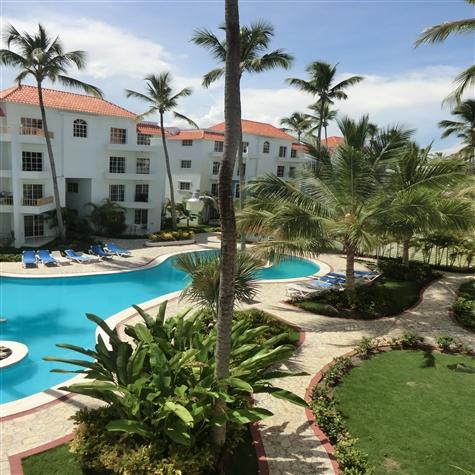 View from upper balcony - Beautiful 2BR, 2.5BA PH condo w/rooftop terrace - Punta Cana - rentals