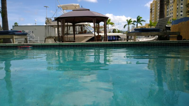 from House looking towards boat - Designer House With Pool On The Miami River 3bd 2b - Coconut Grove - rentals