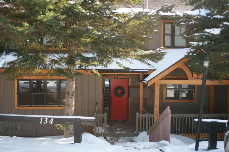 FRONT OF THE HOUSE IN WINTER - Executive 2 Bedroom On Mountain Central but Quiet - Mont Tremblant - rentals