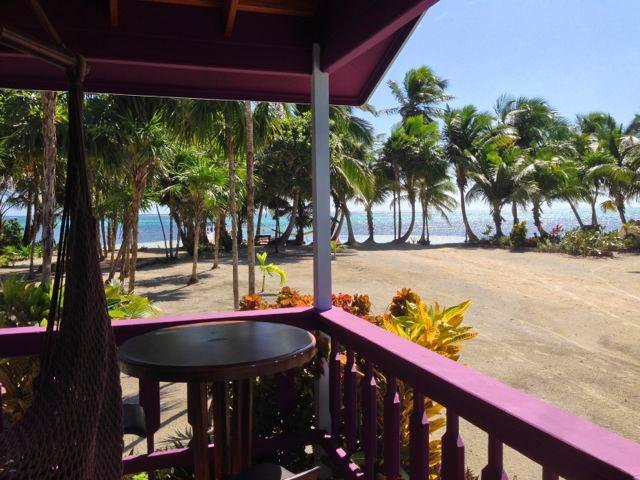 Looking at the Caribbean from your porch. - Tranquil Caribbean Island Beachfront Cottage 1 - San Pedro - rentals