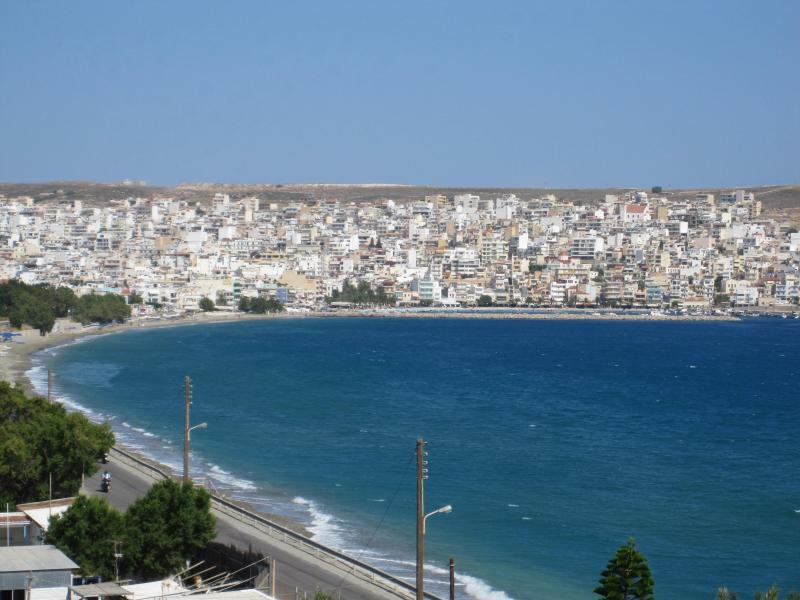 Sitia & Sea View from Balcony. - Spacious Apartment in Sitia Overlooking Cretan sea - Sitia - rentals