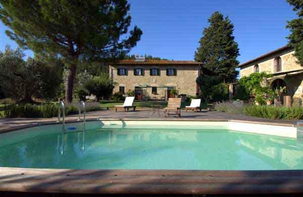 Swimming pool - Cottage finely renovated with swimming pool overlooking the Tuscan hills - Montespertoli - rentals