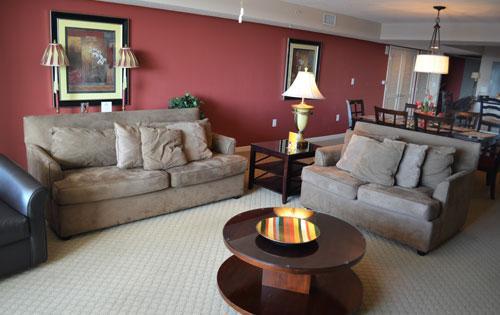 Open & spacious Living Area - LUXURY 2BR VILLA 1-702 @ YACHT CLUB! - North Myrtle Beach - rentals