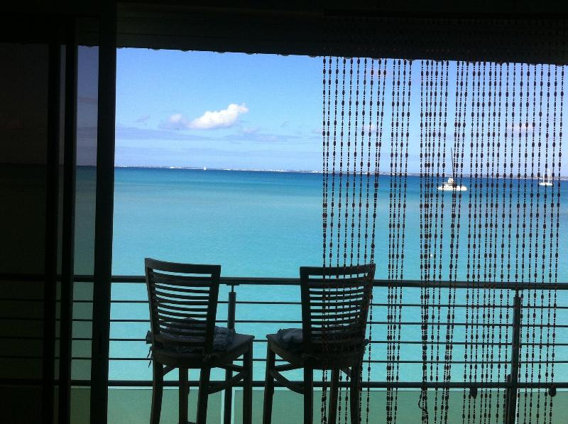 Carribean Sea View from the lounge - Luxury Condo directly on the beach of Grand Case Center - Grand Case - rentals