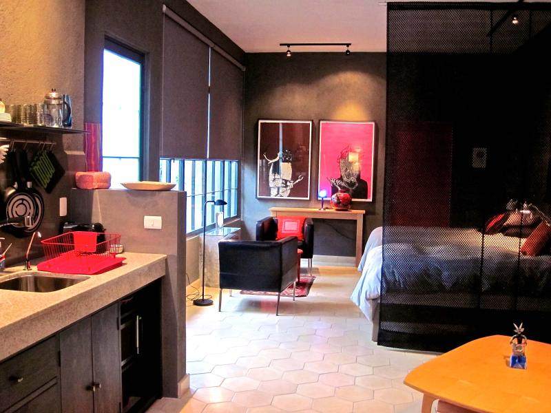 Art filled apartment with fireplace and garden view - Florecer - Luxury Casitas at Modest Prices - Guanajuato - rentals