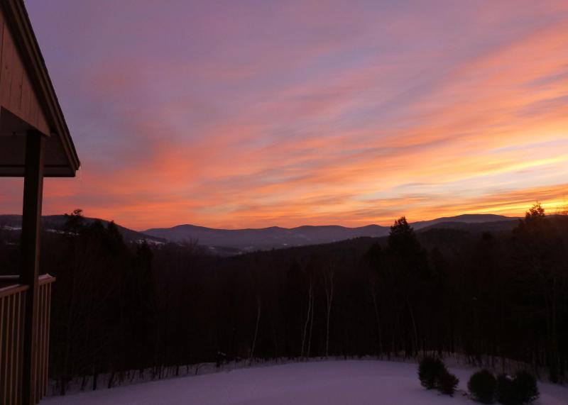 Our view - Sugarbush Snowside 14 - Mad River Valley Sunrise - Fayston - rentals