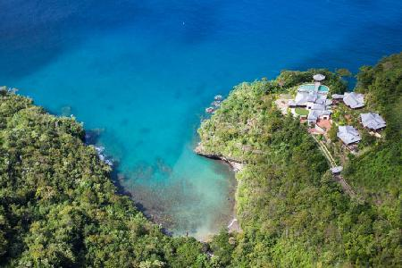 Villa Susanna ideal for groups, sunset gazebo, infinity pool, short walk to Trou Rolland beach - Image 1 - Marigot Bay - rentals