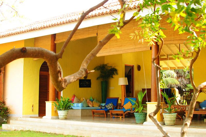 West facing veranda over the sea - Khomba Beach House is a Luxury Beach Side Villa - Puttalam District - rentals