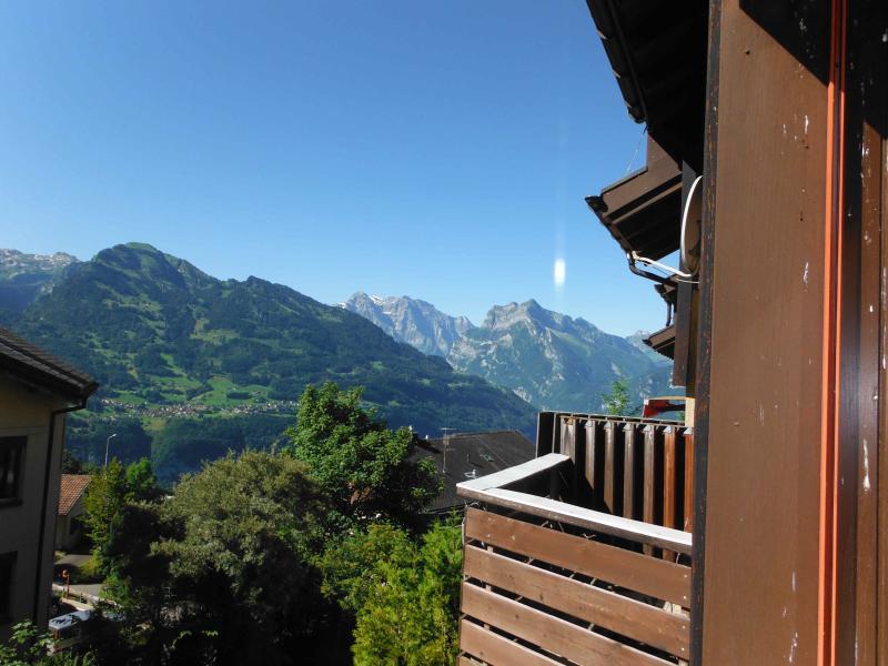 view from livingroom balcony - Chalet in Heidiland Ski in Ski out - Amden - rentals