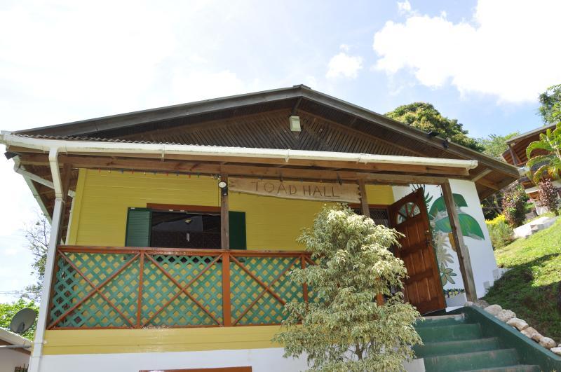 Front of Toad Hall - Toad Hall, Castara, Tobago. - Castara - rentals