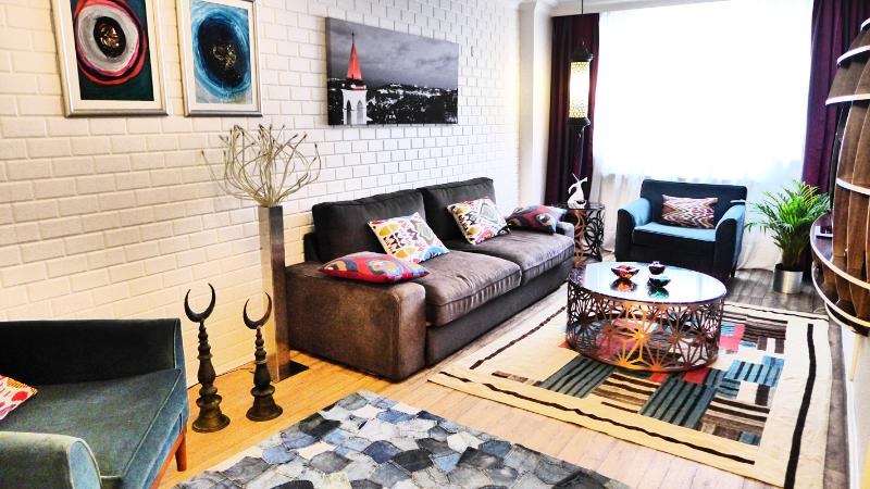 Living Room - ShortTermFlats - Eclectic Design Taksim - Turkey - rentals
