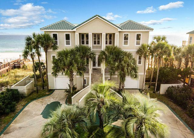 Welcome to Castle on The Beach! Gulf Front 7 Bed/6 bath sleeps 2 - CASTLE ON THE BEACH, BEST PRIVATE BEACH, FANTASTIC VIEWS SLEEPS 25 - Miramar Beach - rentals