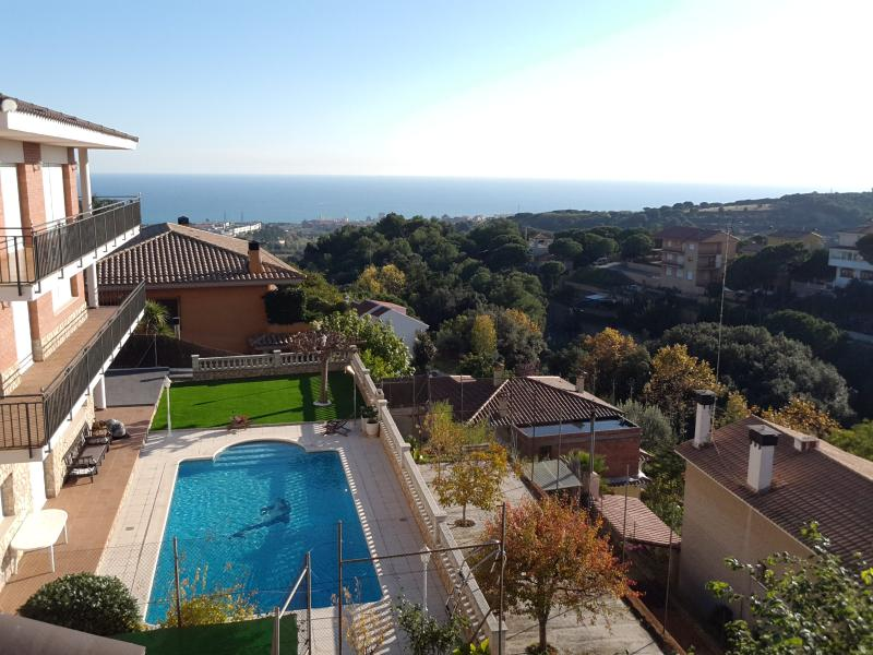 view from the Villa to the blue Mediterranean sea and the nature - Villa Antonia, Pool-Beach-Hill - Dosrius - rentals