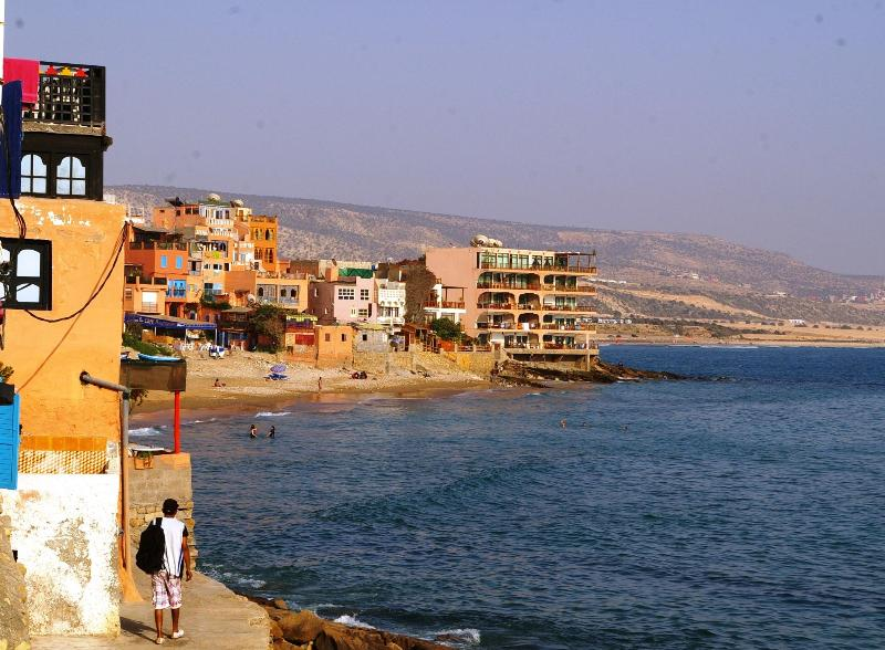 The great view fom the terrace - DIRECT WATERFRONT, ON THE BEACH, HIGH STANDING - Taghazout - rentals