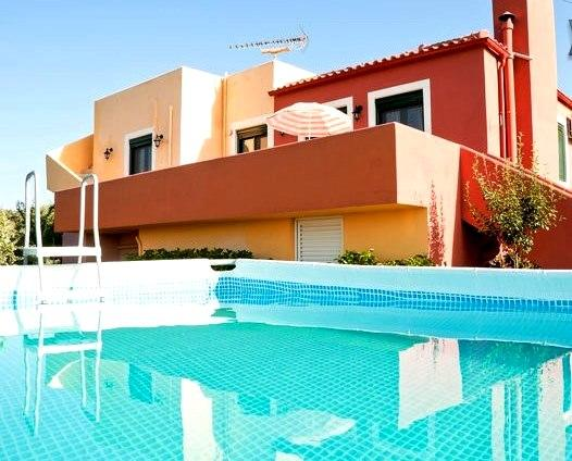 Sea view balcony with above ground pool - Villa Panorama  with pool and breathtaking view - Chania - rentals