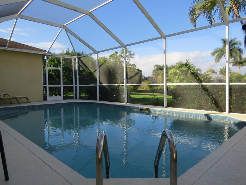 Heated pool with sun loungers - Beautiful Newly Furnished Family Pool Home - Naples - rentals