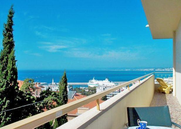 Part of 20 metre long balcony. Fabulous view day and night - Nice - Le Panoramic -view, balcony, garage,1-bedrm - Nice - rentals