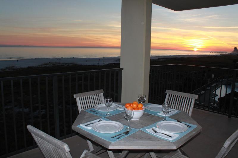 Balcony with Beautiful Sunset Views - Orange Beach Sunsets at Phoenix VII West Corner - Orange Beach - rentals