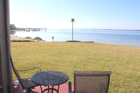 Your view from the Patio - Sunset Harbor Palms Studio 1-102 - Navarre - rentals