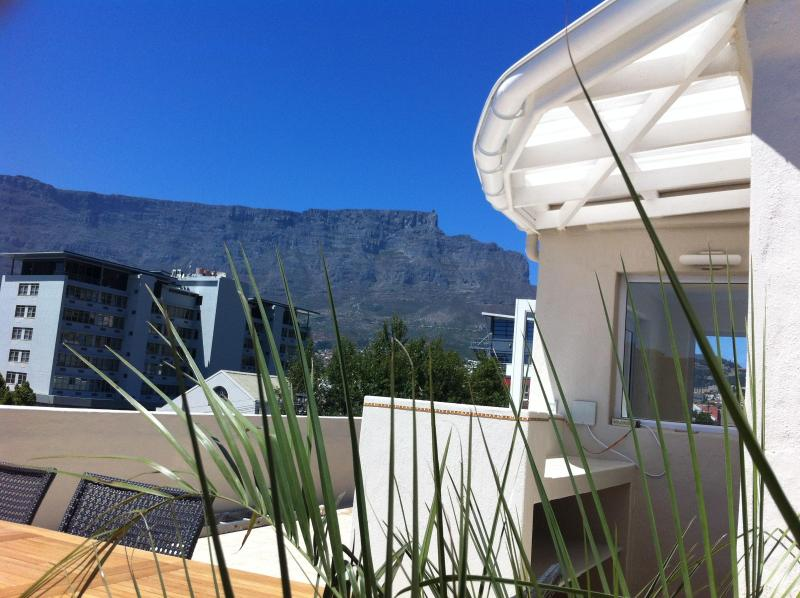 Bar on the roof terrace with view of Table Mountain - CHEZ MAX Cape Town, luxury lifestyle in the city - Cape Town - rentals