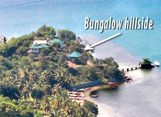 aerial shot bungalow hillside Secret Island Resort - Bungalow On Hill Side - solar hot water - Lombok - rentals