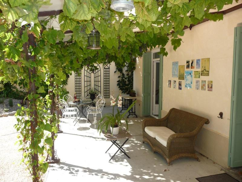 Our terrace.  A perfect place to eat alfresco with a chilled glass of wine - Beautiful French Maison With Garden & Terrace - Le Boulou - rentals