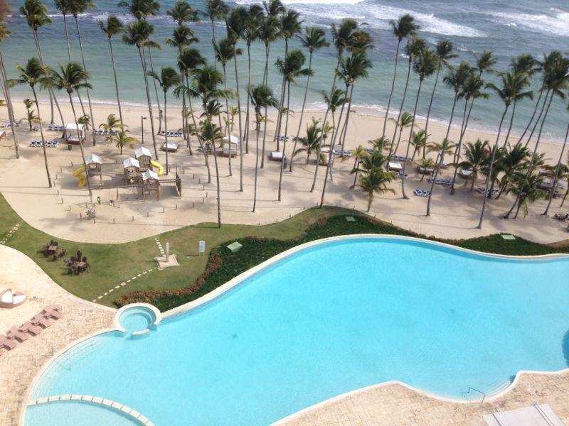 pool view from apt - ON THE BEACH APARTMENT, MARBELLA COMPLEX, JUAN DOLIO, DOMINICAN REP. - Juan Dolio - rentals
