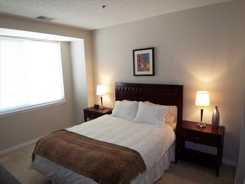 Bedroom - Lux 1BR Apt w/Fireplace, Gated Comm - Arlington - rentals